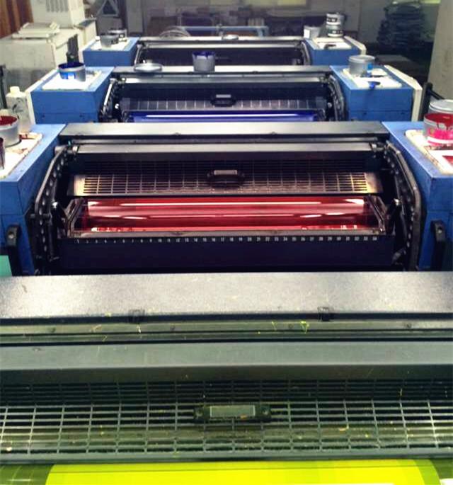 UV胶印油墨大量印刷